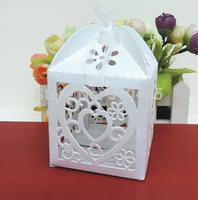 heart candy box,wedding favor box ,laser cut candy box,chocolate box.gift box (6*6*8.5H cm