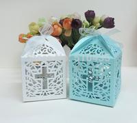 Jesus Christian  candy box,wedding favor box ,laser cut candy box,chocolate box.gift box (6*6*8.5H cm
