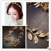 New 2014 Fashion Crystal Headbands Leaf  Glitter Shine Hair Accessories Headwear  Flower Hair Jewelry