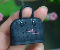 1/6 Scale Dollhouse Miniature Black Plastic  TOY Lady Handbag Bag model