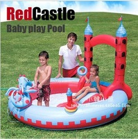 Free shipping Family Spray play pool,Children swimming pool,kid play Slide swimming pool for adults,swimming pool accessories