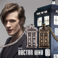2014 New Arrival Popular in Europe and America Mysterious Dr. Doctor Who TARDIS Pendant Necklace~DY047