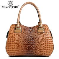 New 2014 women handbag leather handbag spring handbag shoulder bag handbag bags crocodile pattern bag women messenger bag