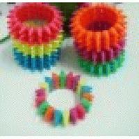 Men Jewelry European Trade Jewelry Wholesale Style Fluorescent Color Texture Square Rivet Elastic Bracelet 9 Colors Optional