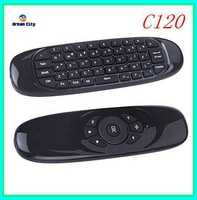 Free shipping 2.4G Wireless Air Mouse C120 Wireless keyboard Remote 3D Somatic handle for PC Set-top-boxes  Android TV Boxes