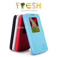 Original Nillkin Brand Fresh Series Flip Leather Case For LG G2 Mini D618 ,MOQ:1PCS free shipping