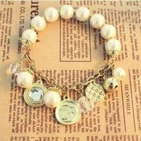 2014 Hot Sale Rushed Zinc Women Bracelets Bangles Jewelry Loom Bands Multi-element Stars Pendant Stretch Like Queen Bracelet