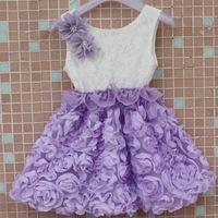 HOT SALE Korean Girls Summer Rose Flower Chiffon Princess Dress