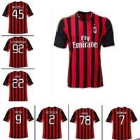 2014 AC Homecourt 22 kaka jersey long short-sleeve football clothing jersey soccer jersey set Free shipping