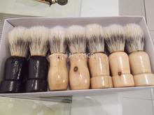 Clearance+Free Shipping 1pcs Grade B handle appearance Shave Shaving Brush wood handle & pig boar bristle beard mustache brushes(China (Mainland))