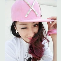 Big x letter gem exo hat the trend of female summer baseball cap women's hiphop cap hip-hop cap