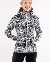 Free shipping 2014 lulu hoodies scuba yoga jacket women fashion coat outwear clothes white black python size 2 4 6 8 10 12