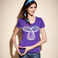 na women's casual sports t-shirt 2014 spring and summer o-neck short-sleeve fashion sportswear T-shirt women's
