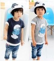 NY007 2014 summer children's clothing female child cartoon graphic patterns 100% cotton short-sleeve T-shirt basic shirt