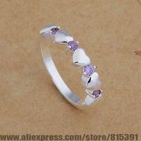 AR657 925 sterling silver ring, 925 silver fashion jewelry, Honorable/many purple stone /bhtajzaa dxqamoxa