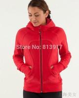 Free shipping lulu hoodie scuba hoodie yoga sweater yoga gear women athletic clothes size 2 4 6 8 10 12