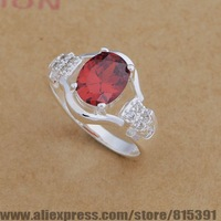 AR655 925 sterling silver ring, 925 silver fashion jewelry, elegant unsurpassed red stone /bhrajyya dxoamova