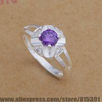 AR653 925 sterling silver ring, 925 silver fashion jewelry, drip/purple stone /bhpajywa dxmamota