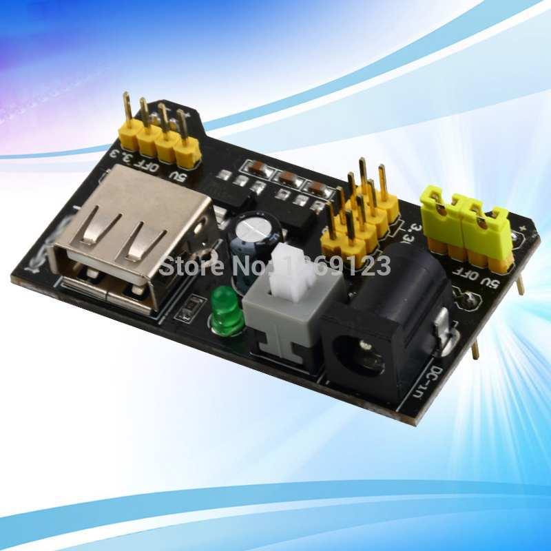 3pcs New Breadboard Power Supply Module 3.3V or 5V for Arduino Solderless Board High Quality eBD5Jp(China (Mainland))