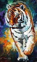 100% Hand-painted Quality Palette Knife canvas recreation oil painting - BENGAL TIGER