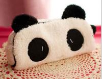 Cute Soft Plush Panda Pencil Pen Card Case Cosmetic Notebook Makeup Bag Pouch Hot dress up bag