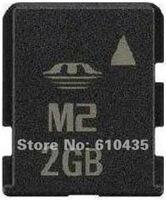 Wholesale M2 memory card 2GB full capacity MOQ 1pc Free shipping
