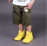 Boys Skull Pants New 2014 Summer Style Baby Kids Pants Children's Pant Fashion for boys Army Green Sale Retail and Wholesale 13