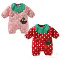 New Spring 2014 Baby Clothing Children's Romper Infant Bibs Cotton Polka Dot Baby Romper f20019