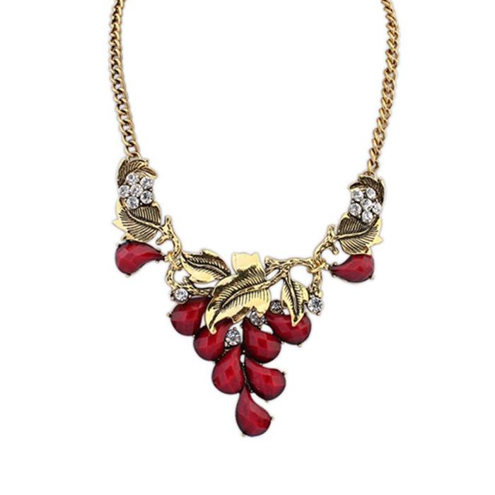 Bohemia grape jewel Necklace girls jewelry women accessories(China (Mainland))