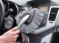 Free Shipping ! 2014 Hot Sale 1PC Multi-functional Car Duster Cleaning Dirt Dust Clean Brush Dusting Tool Mop Gray Brush, CP26