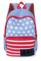 Fashion printing backpack preppy style personality rivet canvas children school bags