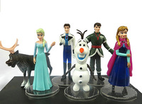 2014 New Brand Frozen Figure Play Set 6pcs Dolls/Cute Anna Elsa Hans Kristoff Sven Olaf Gifts For Kids/Fashion Kids Toys
