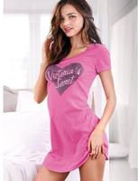 NEW 2014 100% Cotton Women's  Summer Plus Size Sexy Sleepwear Short-Sleeve Princess Nightgowns Sleepshirts Free Shipping