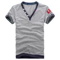 2014 New Arrival Men Tops Tees Short sleeve t-shirt men's Cotton t shirt Men M~XXXL