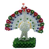 Diy handmade acrylic beaded crafts handmade finished beads peacock
