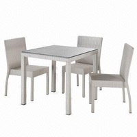 2014 Wicker Garden Furniture 5 Pcs Square Dining Table Set