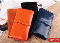 2014 women wallets genuine leather long design fashion womens wallet luxury female wallet money clip