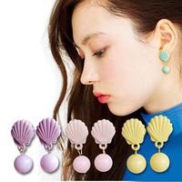 Macaron 2014vivi shell stud earring female earrings accessories earring
