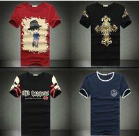 2014 cross print short-sleeve t-shirt plus size male short-sleeve men's clothing 100% male t-shirt cotton t shirt