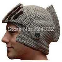 2014 new cool Handmade knitting Funny Beard Octopus roman knight Hat women men cap Crochet  Beanies party Mask Ski Free Shipping
