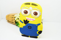 Despicable Me soft rubber silicone 3D minion tablet pc cases covers for samsung galaxy tab 3 7.0 free shipping