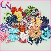 "Free Shipping 50 pcs/lot 3"" Mix Styles Hair Bow For Baby,Girls Pinwheel Hair Bow With Clip,Handmade Ribbon Bow  CNHBW-14052001"