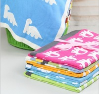 Retail 100 * 75cm elephant pattern of spring,summer,autumn blankets,Double knit cotton blankets, Baby cotton blankets