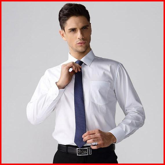 Plus-Size-Formal-Long-Sleeve-Shirt-Men-White-Work-Dress-men-s-Cotton ...