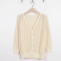 free shipping fashion design Women Sweet Candy Color Crochet Knit Blouse Sweater Cardigan high quality summer light cardigan8806
