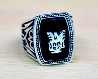 Free Shipping Fashion Accessory The Vampire Diaries Jeremy Resurrection Ring Elena Vintage Punk Style High Quality  Men Jewelry