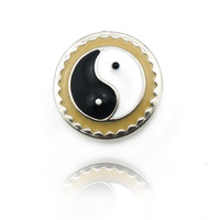 Latest Floating Locket Retro Silver Tai Chi Metal Snap Button Bracelet Accessories Jewelry