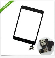 New Black&White Touch Screen Digitizer IC Connector + Home Button Flex for iPad Mini 10pcs/1lot+free sticker  EMS DHL free ship