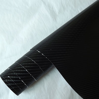 Free-shipping!! 1.52X0.6m Air free bubbles black 4D auto carbon vinyl carbon wrapping film car color change carbon fiber