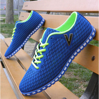 2014 men's casual shoes sport shoes running shoes breathable gauze hole  single shoes